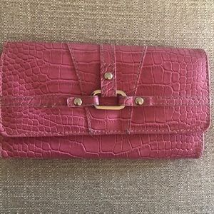 "Pink ""alligator "" wallet"